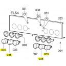 V-zug bouton rotatif cpl., noir, régulateur d'énergie four