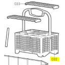 V-Zug panier à couverts hydrophile lave-vaisselle